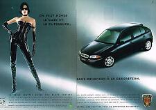 PUBLICITE  1999   ROVER  200 série limitée BLACK EDITION  (2 pages)