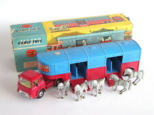 """CORGI TOYS 1130 Chipperfields Circus """"Horse transporter con Cavalli Nuovo di zecca con scatola"""