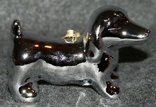 Silver Tone Dachshund Christmas Ornament Benefits Dog Rescue Tree Doxie Wiener
