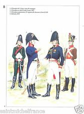Chirurgien Chasseur Cheval Regiment Genie Empire Napoleon War CARD UNIFORM ARMY