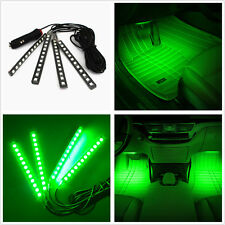 Green 4X12 LED Car SUV Interior Footwell Decor Atmosphere Neon Lamp Light Strips
