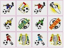 24 CHILDRENS FOOTBALL TEMPORARY TATTOOS IDEAL FOR PARTY BAG FILLERS