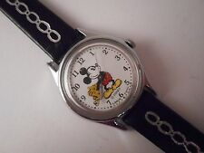 Lorus Disney Wrist Watch 26MM Mickey Mouse Disney Moving Hands Black Band