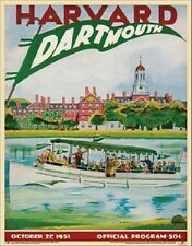 Darthmouth vs Harvard 1951 Official College Football Program Poster Vintage