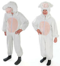 Childrens White Sheep Fancy Dress Costume Outfit Farm Animal Nativity M
