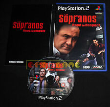 THE SOPRANOS ROAD TO RESPECT Ps2 Versione Italiana 1ª Edizione ••••• COMPLETO