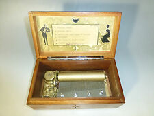 ANTIQUE SWISS MUSIC BOX 52 KEY PLAY 6 SONGS WEDDING MARCH & MORE = WATCH VIDEO