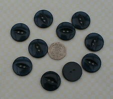 10 Large Fish Eye Buttons 23 mm SLATE GREY Crafts Cardigan Coat Jacket Jumper