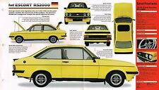 FORD ESCORT RS2000/RS-2000 SPEC SHEET/Brochure:1979,...