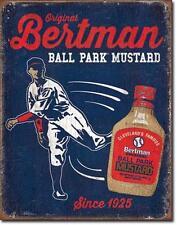 USA Baseball Vintage Style Metallo Pubblicità SCUDO-bertman Ball Park Mustard