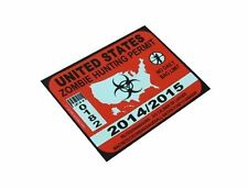 Zombie Hunter Permit Decal