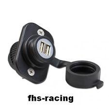 12 V Doppel-USB-Einbausteckdose , Steckdose , Motorrad , Roller , Boot ,Traktor