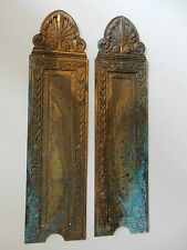 antique BRASS DOOR PLATES TO RESTORE  As one lot  ! see images  D