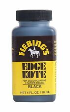 Fiebing's Leather Sealer Coat Edges Color Black Edge Kote 4 Oz.Repair Purses New