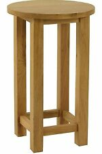 Carne Oak Tall Round Lamp Table / Solid Oak Side Table / High Quality Oak Table