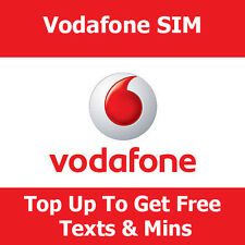 Pay As You Go Sim Card On Vodafone For All Phones Top Up Get Free Data & Texts