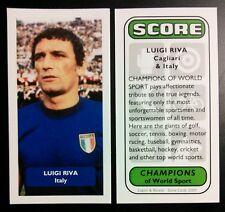 ITALIA-CAGLIARI-LUIGI RIVA punteggio UK Football commercio CARD