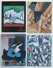 4 Auction Catalogs Christie's Sotheby's Modern Art w/ Modernist Painting (s) NR