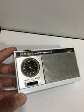 VINTAGE  WALTHAM MINIATURE CLOCK RADIO MADE BY STANDARD MW(AM) BAND   1960s RARE
