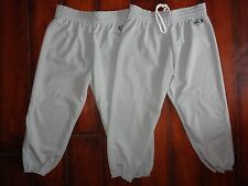 Youth Bike Gray Baseball Pants Size XL EUC!
