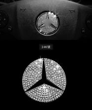 AUTO ACCESSORIES Car Steering Wheel Logo Diamond Decoration For Mercedes Benz