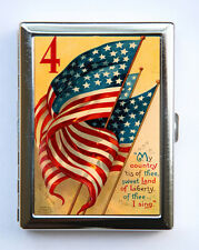 American Flag Cigarette Case Wallet Business Card Holder reto illustration