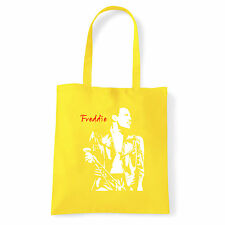 Art T-shirt, Borsa shoulder Freddie Mercury Queen, Giallo Shopper, Mare