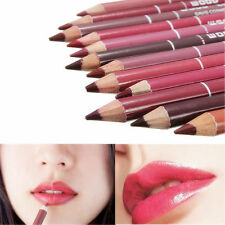 12 Colours Pro Waterproof Professional Lipliner Makeup Lip Liner Pen Pencil UK