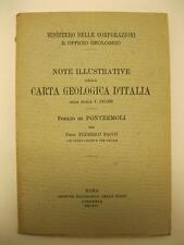 SACCO Federico, Note illustrative della carta Geologica d'Italia