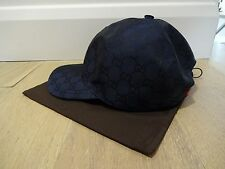 GUCCI MEN'S GG CAP / HAT - BLUE CANVAS - *BNWT* - SIZE LARGE - WITH RECEIPTS!