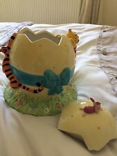 Disney Winnie the Pooh Easter Egg Cookie Jar with piglet & Tiger SO CUTE