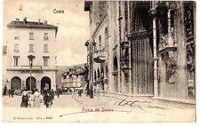 CARTOLINA 1906 COMO PIAZZA DEL DUOMO RIF. 11163
