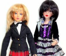 "REDUCED Delilah Noir Class Act Rave 16"" Doll 2 Outfits 2 Feet 2 Wig Ashton Drake"