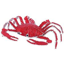 BEADWORX -  SMALL CRAB IN THE SEA - HAND CRAFTED ~ BEAD WORK - BEADED GIFT