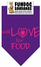 Brand New Purple Will Love For Food Design Dog Bandana For Dog Rescue Charity