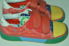 P29 CHAUSSURE SCRATCHS FILLE POM D'API P29 TOILE ROUGE A FLEURS NEUF