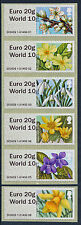 """NEW WINCOR DUAL VALUE """"EURO 20g/WORLD10g SPRING BLOOMS SET/6 DESIGNS POST & GO"""