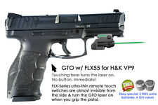ArmaLaser GTO for H&K VP9 GREEN Laser Sight w/FLX55 Grip Touch Activation