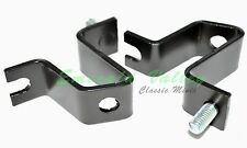 Classic Mini New Pair of Black Lamp Brackets Fits Wipac & Ring Lamps - Austin