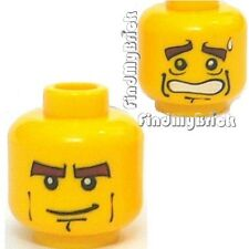 H089B Lego Head Dual Sided Male Gent Scared/Smiling NEW