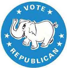 """Vote Republican""   Cartoon   -Romney-    Vintage-1960s  Looking  Travel Sticker"