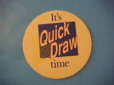 Beer Collectible Coaster ~  ~ 2000 New York Lottery ~ It's Quick Draw Extra Time
