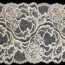 1m Cream Stretch Lace Trim Sewing and Dressmaking Edging 170mm LC31