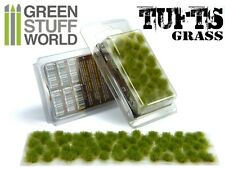 Grass TUFTS - 6mm self-adhesive REALISTIC GREEN - Scenery Miniature Warhammer