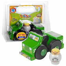 Tumblekins Off-Roader Wooden Toy Car With Adventure Figure Baby Kids Xmas Gift