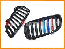 Shiny Black M Tri Metal Color Front Grille For BMW F22 220i 228i 235i Coupe