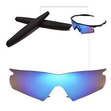 Polarized Ice Blue Replacement Lenses + Black Earsocks For Oakley M Frame Hybrid