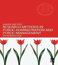Routledge Masters in Public Management: Research Methods in Public...