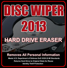 DISC WIPER CD #HARD DRIVE ERASER • DISK WIPE CLEANER {Identity Theft Protection}