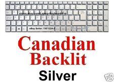 SONY SVF152C29L Keyboard - Canadian CA  - Silver - Backlit 149241451CA